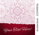 torn paper background with... | Shutterstock .eps vector #121965016