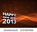 beautiful wave style happy new... | Shutterstock .eps vector #121965466