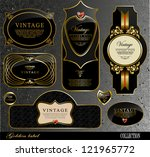 retro black gold label can be... | Shutterstock .eps vector #121965772
