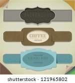 set retro vintage ribbons and... | Shutterstock .eps vector #121965802