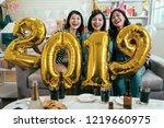 friends carrying gold 2019... | Shutterstock . vector #1219660975