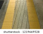 ramp with tactile flooring | Shutterstock . vector #1219669528