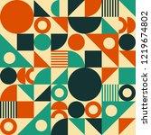 seamless vector geometric... | Shutterstock .eps vector #1219674802