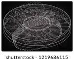 wheel and gear mechanism on a... | Shutterstock .eps vector #1219686115