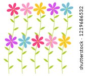 colorful flowers set for... | Shutterstock .eps vector #1219686532