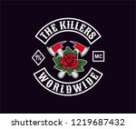 design for motorcycle club logo ... | Shutterstock .eps vector #1219687432