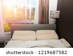 bright and cozy modern bedroom  | Shutterstock . vector #1219687582