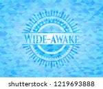 wide awake sky blue emblem with ... | Shutterstock .eps vector #1219693888