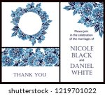 invitation greeting card with... | Shutterstock .eps vector #1219701022
