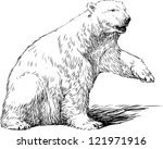 white bear | Shutterstock .eps vector #121971916