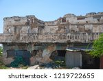 houses destroyed during the war ... | Shutterstock . vector #1219722655