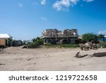 houses destroyed during the war ... | Shutterstock . vector #1219722658