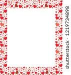 red heart photo frame | Shutterstock .eps vector #1219734898