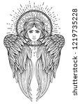 sirin  alkonost  gamayun... | Shutterstock .eps vector #1219735228