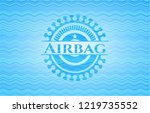 airbag water concept badge... | Shutterstock .eps vector #1219735552