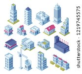 city buildings 3d isometric... | Shutterstock . vector #1219745575