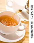 food series  flowing golden tea ... | Shutterstock . vector #12197500