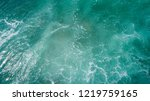 aerail view of sea wave surface | Shutterstock . vector #1219759165