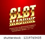vector casino label slot... | Shutterstock .eps vector #1219765435