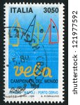 italy   circa 1989  stamp... | Shutterstock . vector #121977592