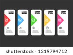 5 steps colourful banners for... | Shutterstock .eps vector #1219794712