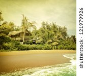 vintage palm background | Shutterstock . vector #121979926