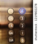 elevator or lift numeric... | Shutterstock . vector #1219802278