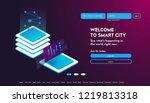user interface for big data... | Shutterstock .eps vector #1219813318