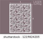 laser cut decorative panel... | Shutterstock .eps vector #1219824205