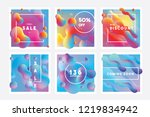 set of vibrant colorful banner... | Shutterstock .eps vector #1219834942