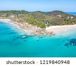 the pass at byron bay from an... | Shutterstock . vector #1219840948