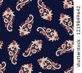 traditional paisley pattern on... | Shutterstock .eps vector #1219849642