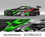 racing car wrap design vector....   Shutterstock .eps vector #1219861312