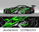racing car wrap design vector.... | Shutterstock .eps vector #1219861315