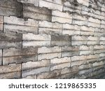 grunge old stone brick wall for ... | Shutterstock . vector #1219865335
