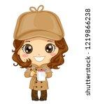 illustration of a kid girl... | Shutterstock .eps vector #1219866238