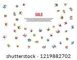vector illustration. people run ... | Shutterstock .eps vector #1219882702