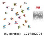 vector illustration. people run ...   Shutterstock .eps vector #1219882705