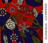 winter seamless pattern ...   Shutterstock .eps vector #1219890505