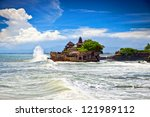 the tanah lot temple  the most... | Shutterstock . vector #121989112
