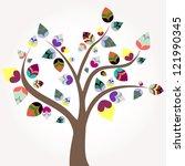 abstract tree  illustration... | Shutterstock .eps vector #121990345