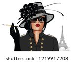 Woman With Sunglasses And Hat   ...