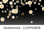 luxury vector gold percentage... | Shutterstock .eps vector #1219924858