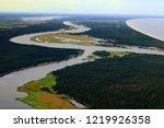 the daugava river flows into... | Shutterstock . vector #1219926358