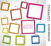 colour frames on the white... | Shutterstock .eps vector #121993012