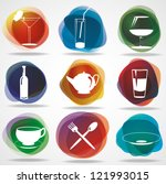 food and drink icons. eps10 ... | Shutterstock .eps vector #121993015