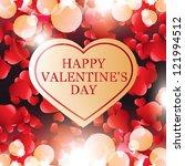 valentine's day card  banner | Shutterstock .eps vector #121994512