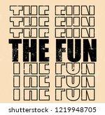 slogan vector print | Shutterstock .eps vector #1219948705
