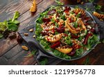 grilled quince salad with baked ... | Shutterstock . vector #1219956778