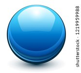 glass sphere  blue 3d vector... | Shutterstock .eps vector #1219959988
